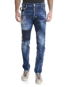 Dsquared2 - Jeans Cool Guy blu effetto vintage
