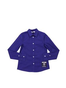 Moschino Kids - Blue shirt with patch logo