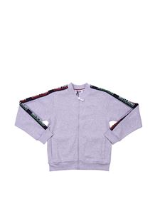 Moschino Kids - Sweatshirt with zip and branded bands