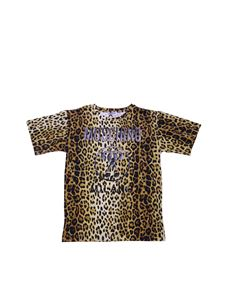 Moschino Kids - Animalier t-shirt with logo