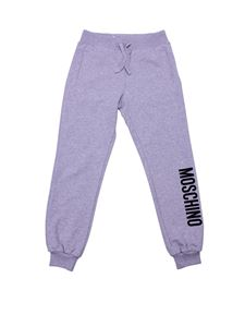 Moschino Kids - Gray sweat pants with logo