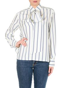 Chloé - Beige and blue striped blouse