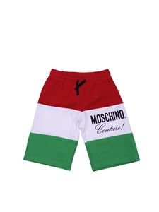 Moschino Kids - Colorblock trousers with logo