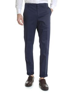 Dondup - Gaubert blue trousers in gabardine