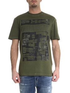 Dsquared2 - Dsquared printed t-shirt in green vintage effect