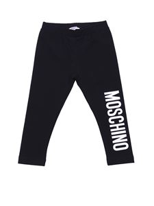 Moschino Kids - Black pants with logo