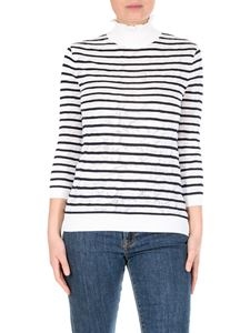 Chloé - Striped turtleneck sweater with jacquard effect