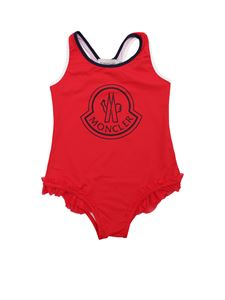 Moncler Jr - Red swimsuit with ruffles