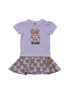 Moschino Kids - Grey dress with Teddy Bear Toy prints