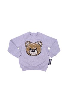 Moschino Kids - Gray sweatshirt with Teddy Bear