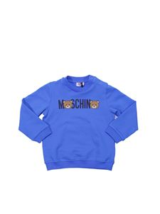 Moschino Kids - Felpa blu con Teddy Bear