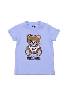 Moschino Kids - Moschino Toy t-shirt in light blue cotton