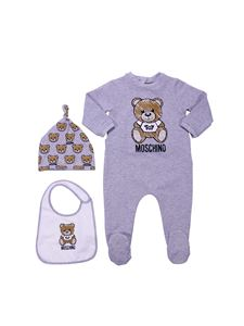 Moschino Kids - Set Moschino Toy in cotone grigio melange