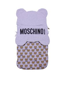 Moschino Kids - Teddy sack in melange grey cotton