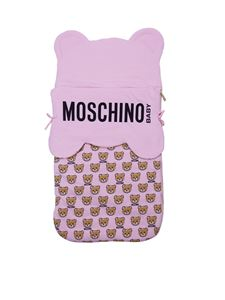 Moschino Kids - Teddy sack in pink cotton