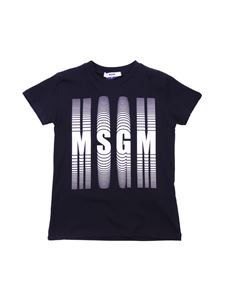 Moschino Kids - Black t-shirt with shifted logo