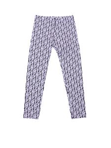MSGM - Leggings stampa logo MSGM all-over