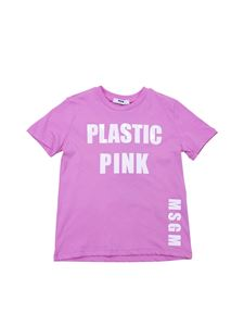 MSGM - T-shirt Colors Speak All Languages rosa