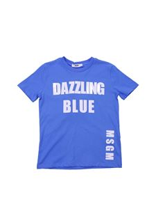 MSGM - T-shirt Colors Speak All Languages blu