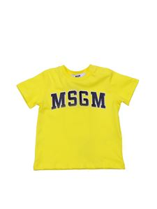 MSGM - Yellow t-shirt with College logo
