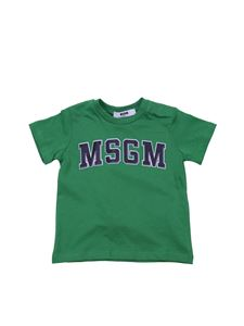 MSGM - Green t-shirt with College logo