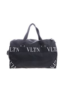 Valentino - Duffle bag in black with branded inserts