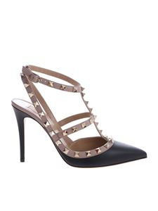 Valentino - Rockstud Valentino pumps in black and pink