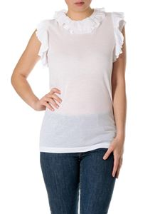 Dsquared2 - Top bianco con rouches