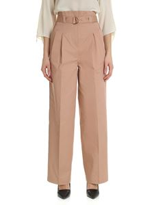 Semicouture - Palazzo pants in antique pink with belt