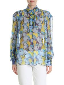 Pinko - Impostato blouse in yellow creponne