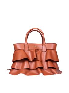Borbonese - Borsa Shopping small in pelle color cuoio