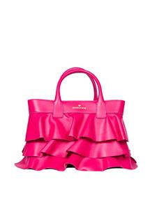 Borbonese - Borsa Shopping small in pelle fucsia