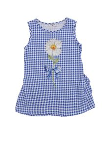 Monnalisa - Vichy top with daisies print