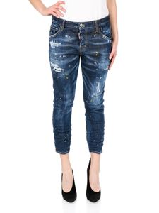 Dsquared2 - Yellow ripped spots Cool Girl Cropped Jeans