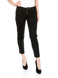 Dsquared2 - Jeans Stretch Bull Garment Dyed Cropped Twiggy Medium Waist