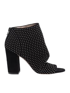 Marc Ellis - Black suede ankle boots with studs
