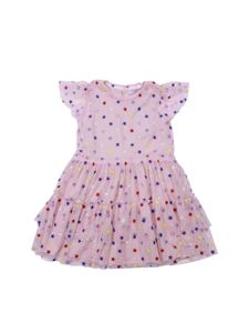 Stella McCartney Kids - Pink tulle dress with multicolor stars