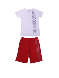 Moschino Kids - White and red t-shirt and bermuda tracksuit