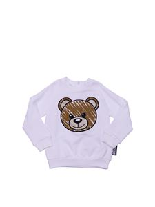 Moschino Kids - White sweatshirt with Teddy Bear