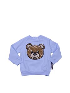 Moschino Kids - Light-blue sweatshirt with Teddy Bear