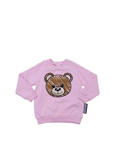 Moschino Kids - Pink sweatshirt with Teddy Bear