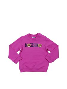 Moschino Kids - Fuchsia sweatshirt with Teddy Bear