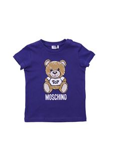 Moschino Kids - Moschino Toy t-shirt in blue cotton