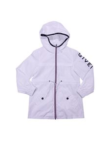 Givenchy - White hooded jacket with logo print