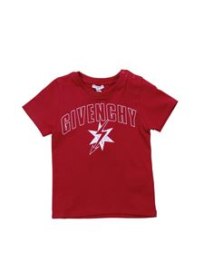 Givenchy - Red crew-neck t-shirt with white logo