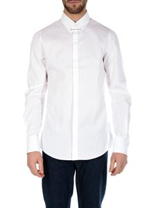 Dsquared2 - White shirt with metal pin