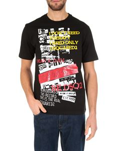 Dsquared2 - Black T-shirt with graphic print