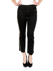 J Brand - Black trousers with metallic bands
