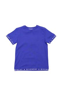 Givenchy - Givenchy crew-neck T-shirt in blue cotton