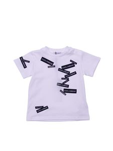 Dolce & Gabbana Jr - T-shirt bianca con logo all-over